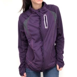 Athleta prevail small purple gray running jacket
